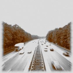 Foto zu Autobahn, A3, Duisburg, Wedau, Belichtungszeit, GIMP, Filtern
