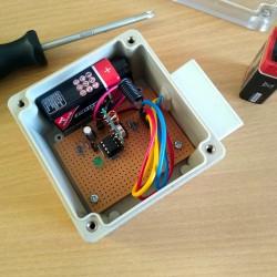 Foto zu sensor, Wetterstation, Batterie, Temperatur, Luftfeuchtigkeit, ATtiny, Microcontroller, Funk, Protokoll