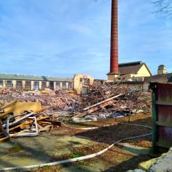Foto zu Ausbesserungswerk, Duisburg, Wedau, Kesselhalle, Kamin, turm, feuerwehr, Denkmal