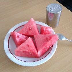 Foto zu Wassermelone, Salz